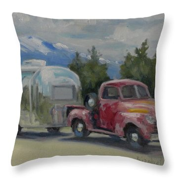 Vintage Rig Throw Pillow