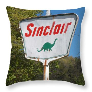 Vintage Roadside 3 Throw Pillow by Donna Dixon