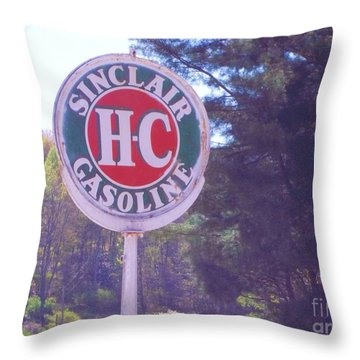 Vintage Roadside 4 Throw Pillow by Donna Dixon