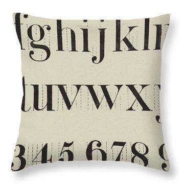 Vintage Roman Analytical Font Throw Pillow