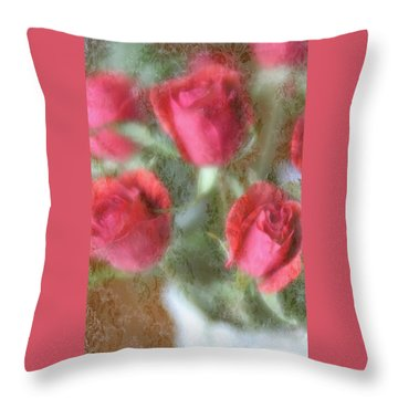 Throw Pillow featuring the photograph Vintage Rose Bouquet by Diane Alexander
