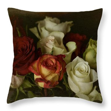Throw Pillow featuring the photograph Vintage Roses Feb 2017 by Richard Cummings