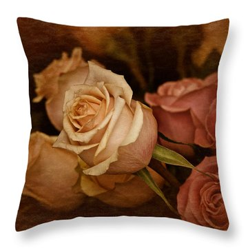 Vintage Roses March 2017 Throw Pillow by Richard Cummings