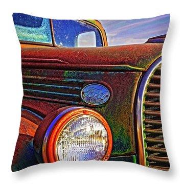 Vintage Rust N Colors Throw Pillow