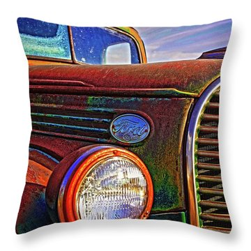 Vintage Rust N Colors Throw Pillow