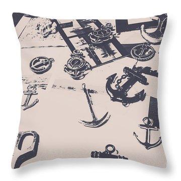 Vintage Sailing Art Throw Pillow
