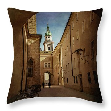 Throw Pillow featuring the photograph Vintage Salzburg by Carol Japp