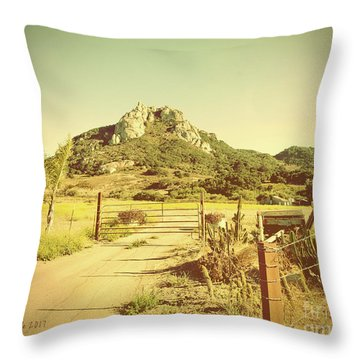 Vintage San Luis Obispo California Seven Sisters  Throw Pillow