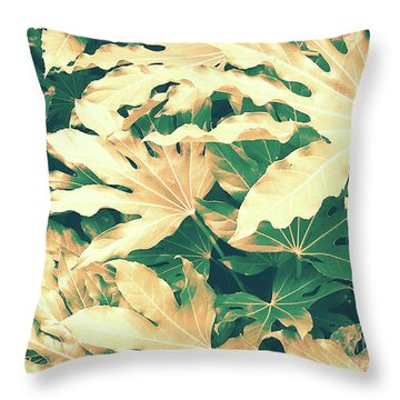 Throw Pillow featuring the photograph Vintage Season Gold by Rebecca Harman