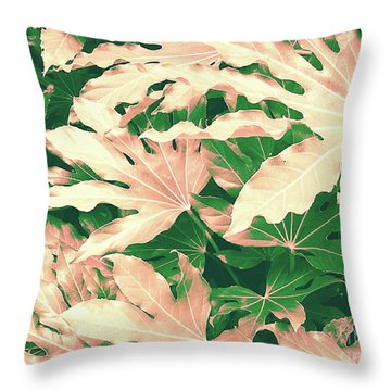 Throw Pillow featuring the photograph Vintage Season Pink by Rebecca Harman