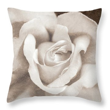 Throw Pillow featuring the photograph Vintage Sepia Rose Flower by Jennie Marie Schell