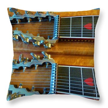 Vintage Sho-bud Pedal Steel Throw Pillow