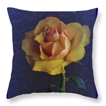 Throw Pillow featuring the photograph Vintage Single Rose by Richard Cummings