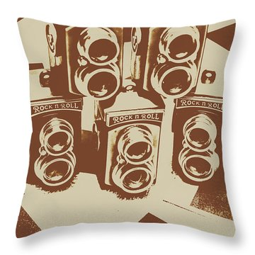 Vintage Snapshots And Old Cameras Throw Pillow