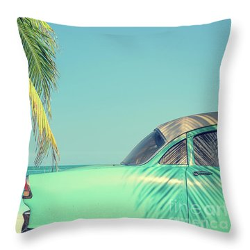 Throw Pillow featuring the photograph Vintage Summer by Delphimages Photo Creations