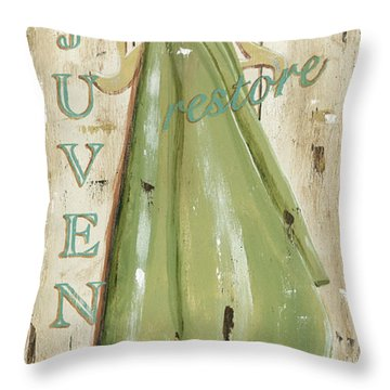 Vintage Sun Beach 1 Throw Pillow