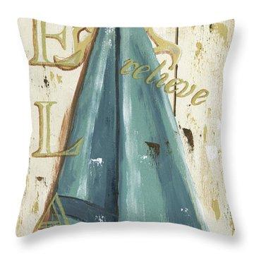 Vintage Sun Beach 2 Throw Pillow