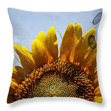 Vintage Sunflower- Fine Art Throw Pillow