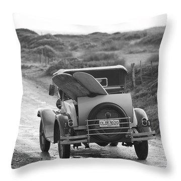 Vintage Surf Throw Pillow