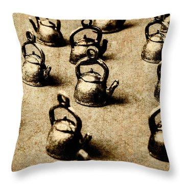 Vintage Teapot Party Throw Pillow