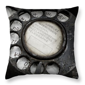 Vintage Telephone Throw Pillow by Lainie Wrightson