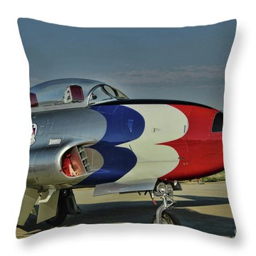 Vintage Thunderbird Throw Pillow