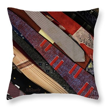 Vintage Ties Throw Pillow