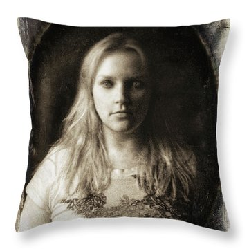 Vintage Tintype Ir Self-portrait Throw Pillow