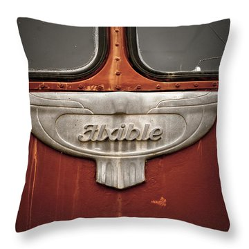 Vintage Tour Bus Throw Pillow