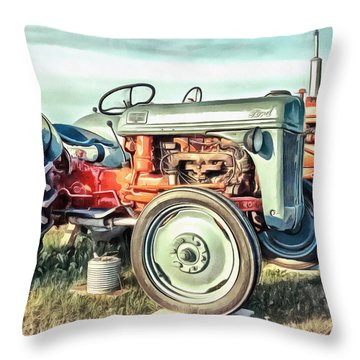 Vintage Tractors Pei Square Throw Pillow