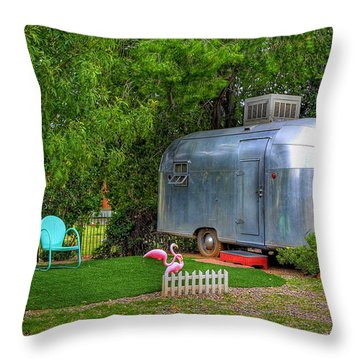 Vintage Trailer Throw Pillow