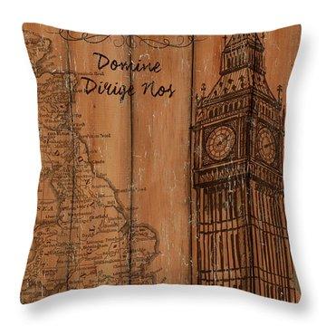 Vintage Travel London Throw Pillow