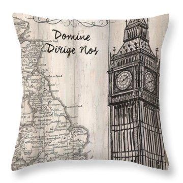 Vintage Travel Poster London Throw Pillow