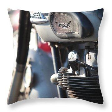 Vintage Triumph Throw Pillow