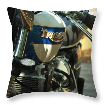 Vintage Triumph  Throw Pillow