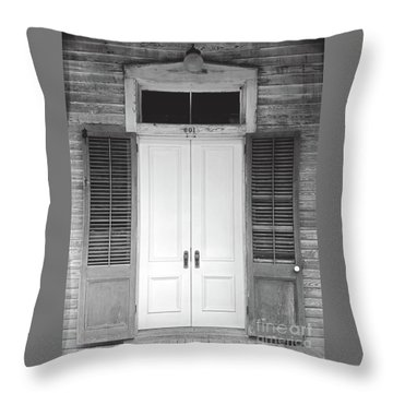 Throw Pillow featuring the photograph Vintage Tropical Weathered Key West Florida Doorway by John Stephens