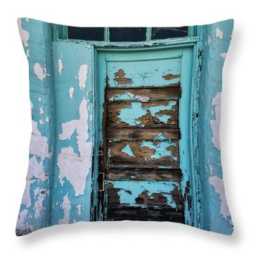 Throw Pillow featuring the photograph Vintage Turquoise Door  by Saija Lehtonen