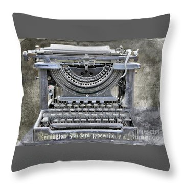 Vintage Typewriter Photo Paint Throw Pillow