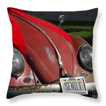 Vintage Volkswagen Throw Pillow