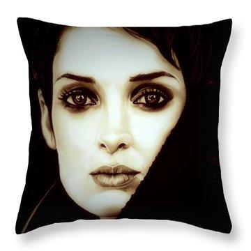 Vintage Winona Ryder Throw Pillow