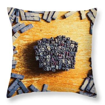Vintage Writers Block Throw Pillow