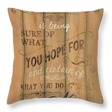Vintage Wtlb Faith Throw Pillow by Debbie DeWitt