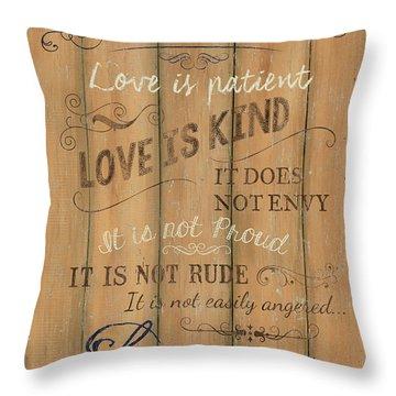 Vintage Wtlb Love Throw Pillow by Debbie DeWitt
