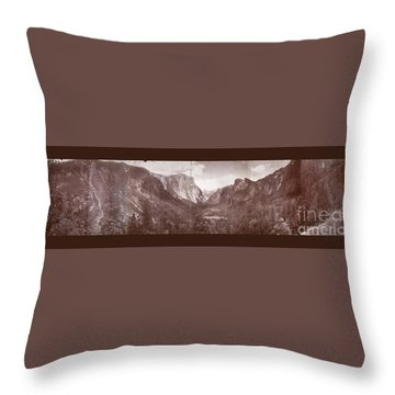 Throw Pillow featuring the photograph Vintage Yosemite Valley 1899 by John Stephens