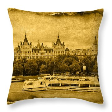 Vintage04 Throw Pillow by Svetlana Sewell
