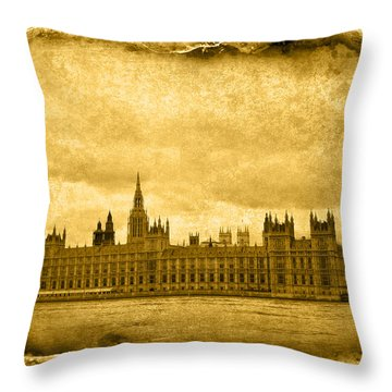 Vintage05 Throw Pillow by Svetlana Sewell
