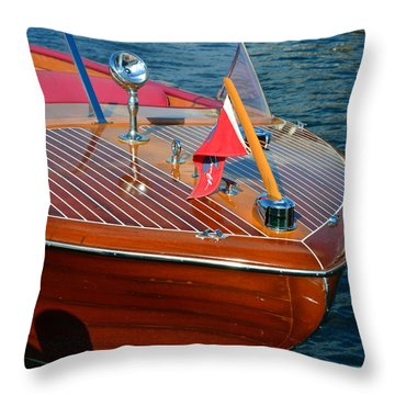 Classic 1958 Chris Craft Continental Throw Pillow