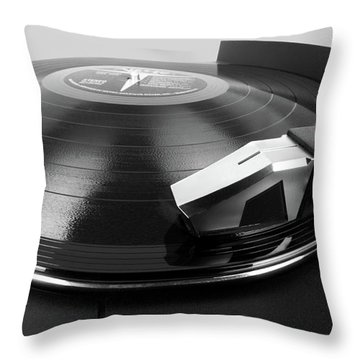 Vinyl Lp And Turntable Throw Pillow