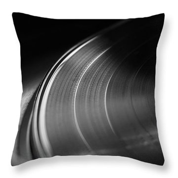 Vinyl Record And Turntable Throw Pillow