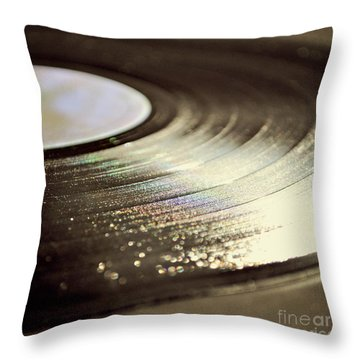 Vinyl Record Throw Pillow by Lyn Randle